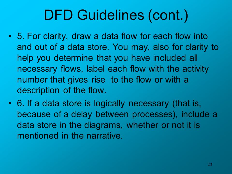 DFD Guidelines (cont.)