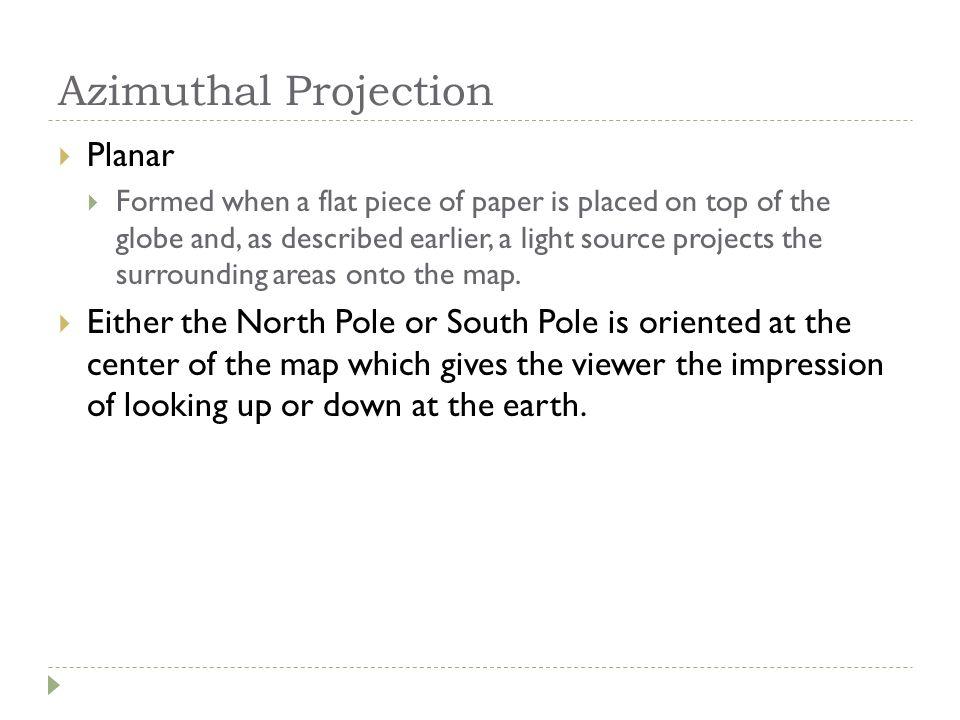 Azimuthal Projection Planar