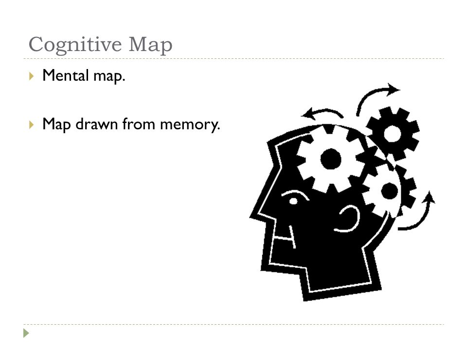 Cognitive Map Mental map. Map drawn from memory.