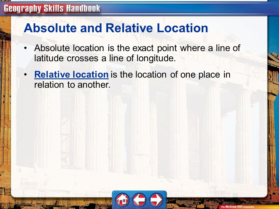 Absolute and Relative Location