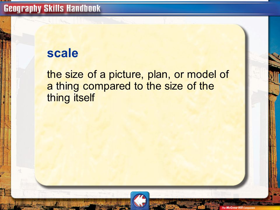 scale the size of a picture, plan, or model of a thing compared to the size of the thing itself.