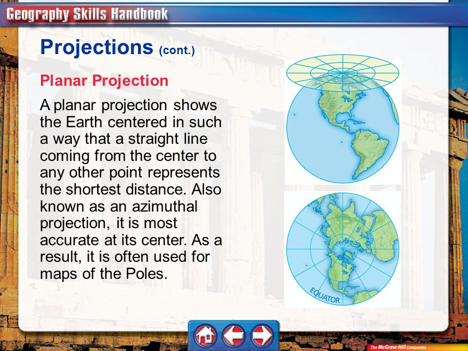 Projections (cont.) Planar Projection