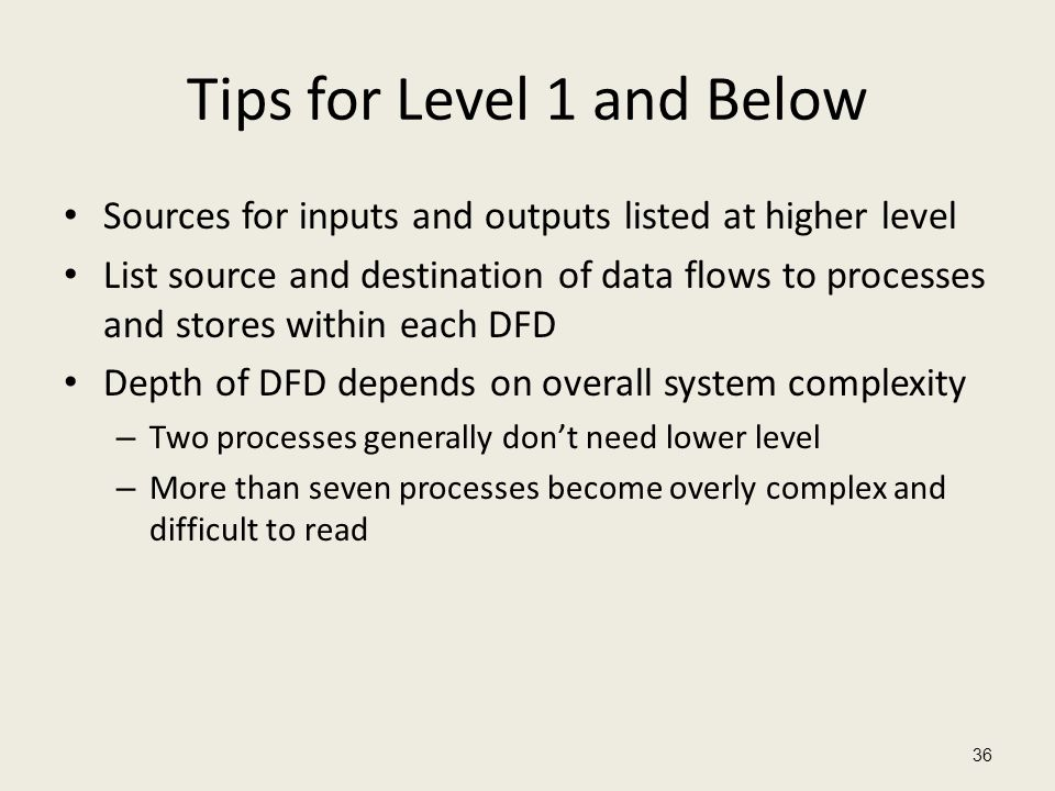 Tips for Level 1 and Below