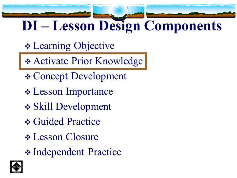 DI – Lesson Design Components