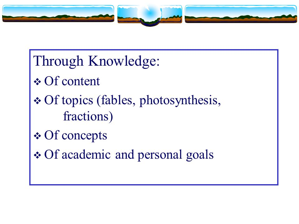 Through Knowledge: Of content