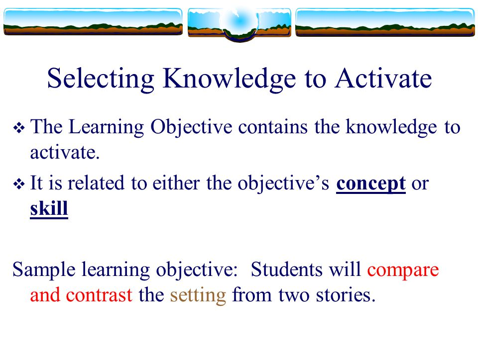 Selecting Knowledge to Activate