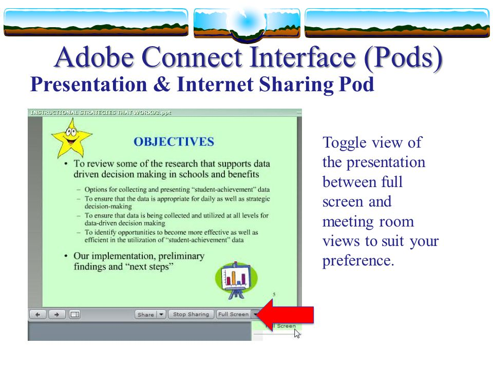 Adobe Connect Interface (Pods)