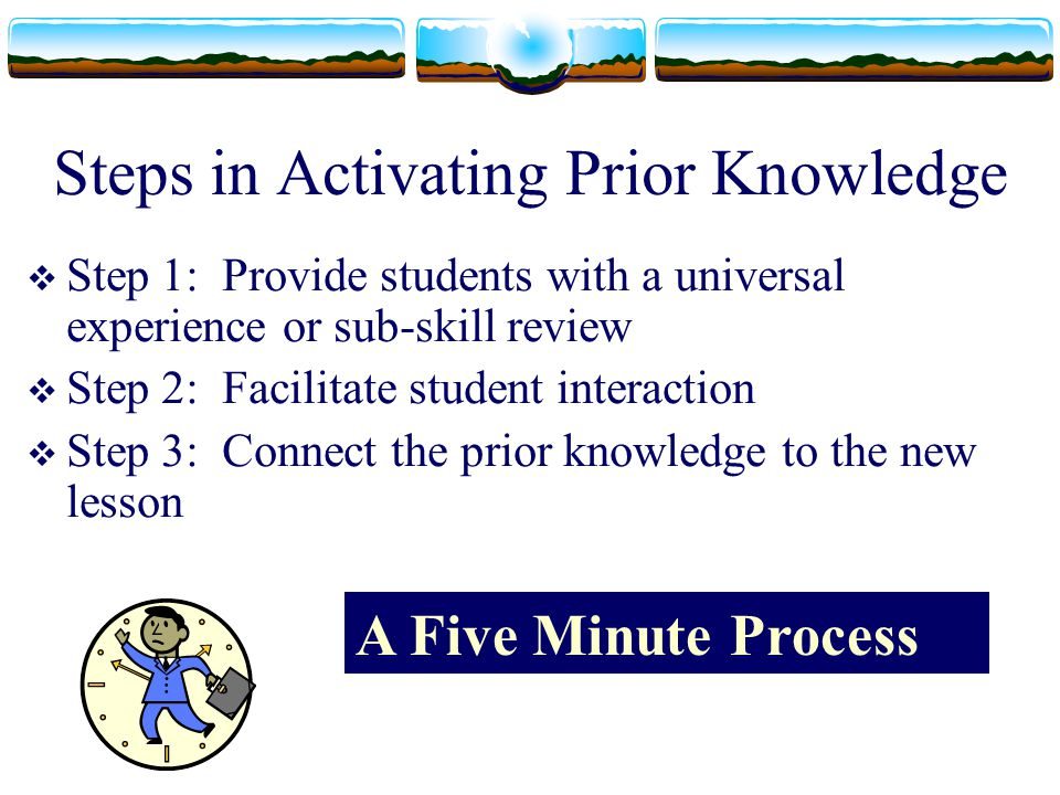 Steps in Activating Prior Knowledge
