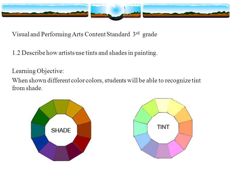 Visual and Performing Arts Content Standard 3rd grade