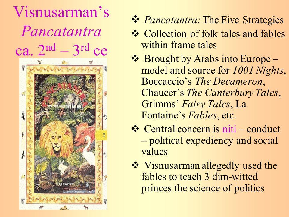 Visnusarman's Pancatantra ca. 2nd – 3rd ce
