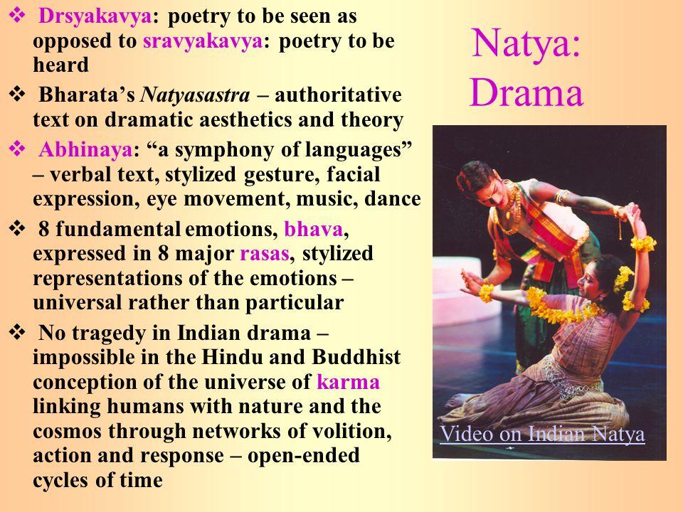 Drsyakavya: poetry to be seen as opposed to sravyakavya: poetry to be heard