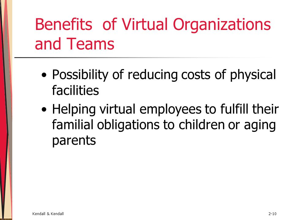 Benefits of Virtual Organizations and Teams