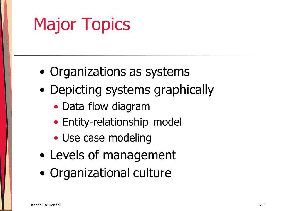Major Topics Organizations as systems Depicting systems graphically