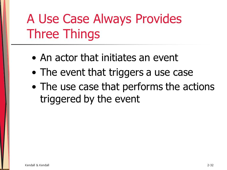 A Use Case Always Provides Three Things