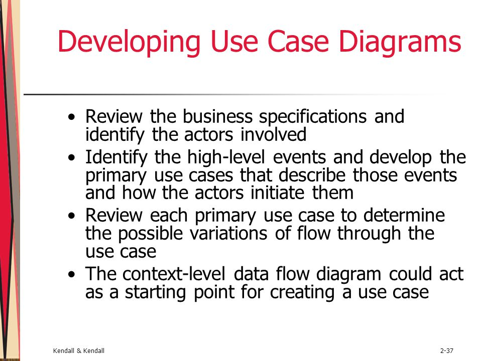 Developing Use Case Diagrams
