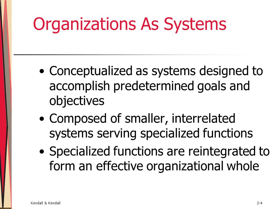Organizations As Systems