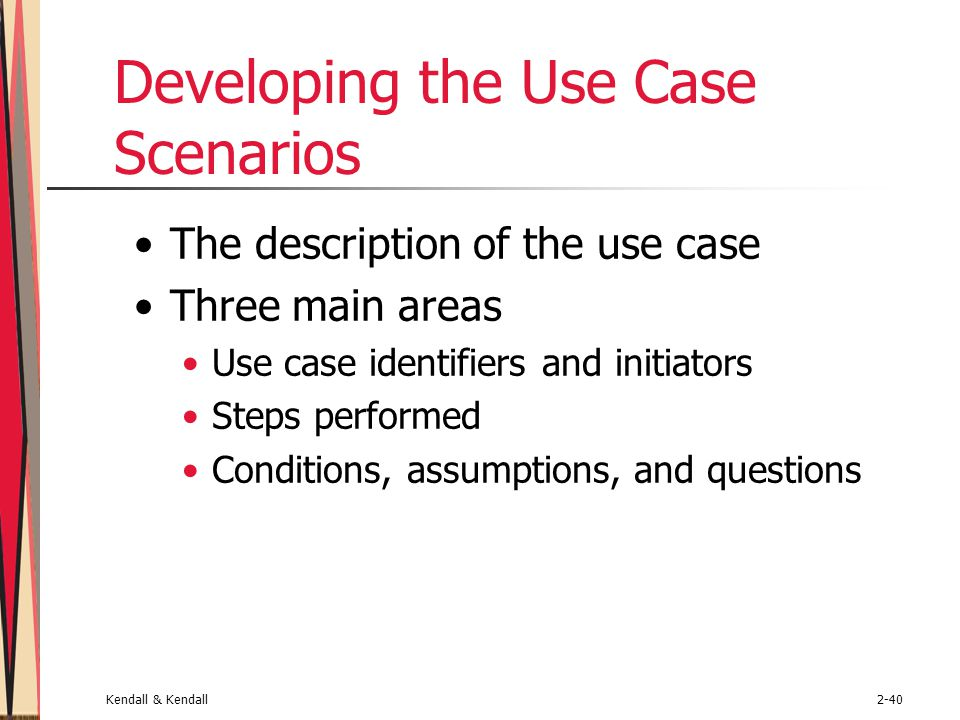 Developing the Use Case Scenarios