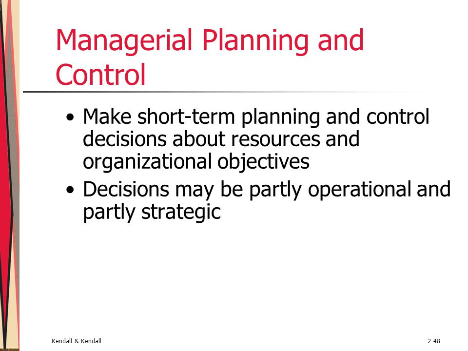 Managerial Planning and Control