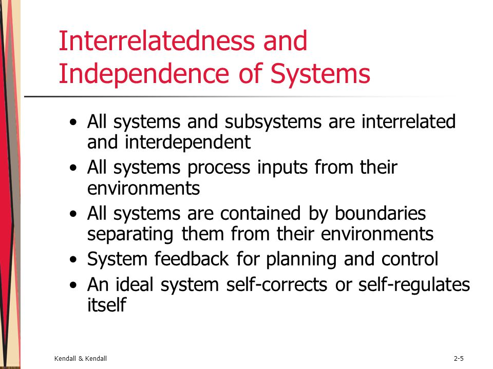 Interrelatedness and Independence of Systems