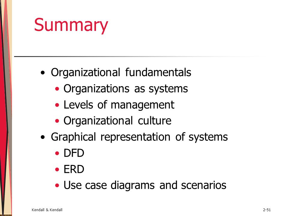 Summary Organizational fundamentals Organizations as systems
