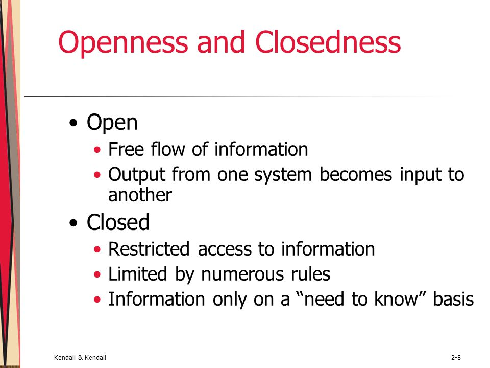 Openness and Closedness