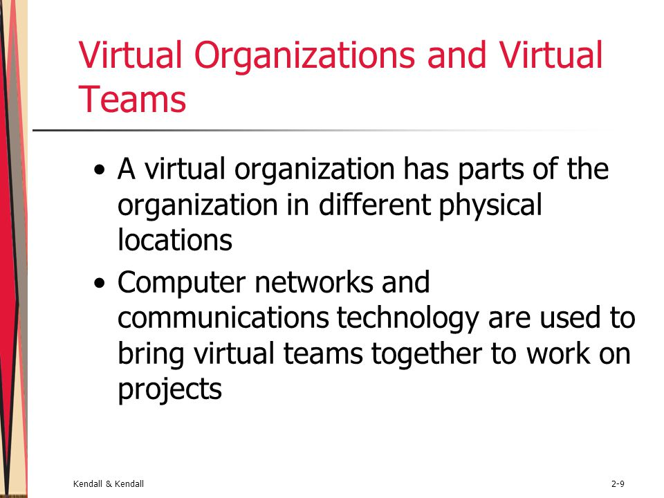 Virtual Organizations and Virtual Teams