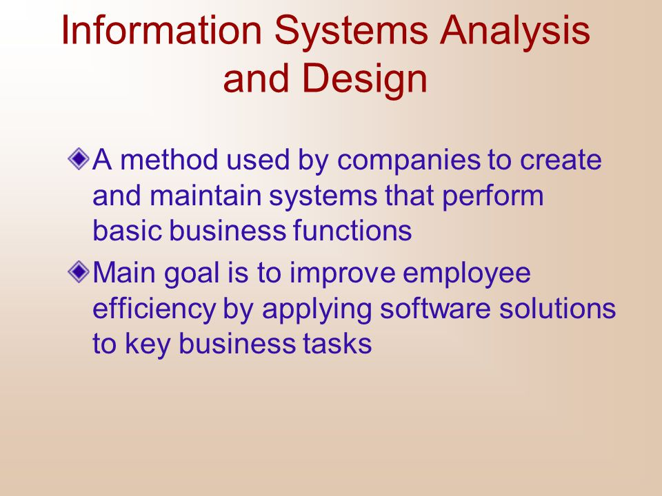 Information Systems Analysis And Design Ppt Video Online Download