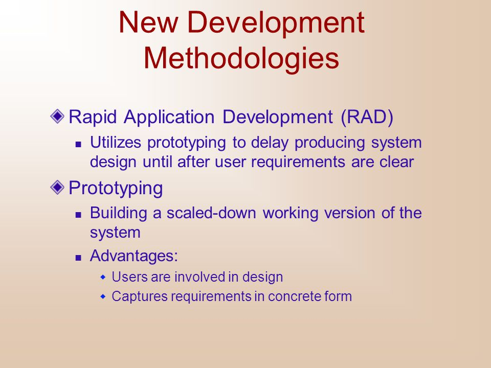 New Development Methodologies