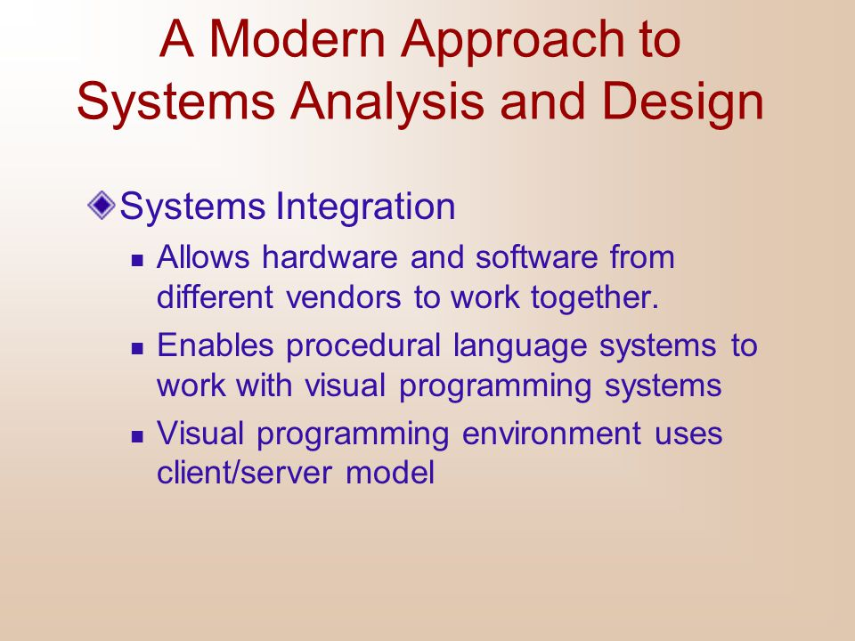 A Modern Approach to Systems Analysis and Design