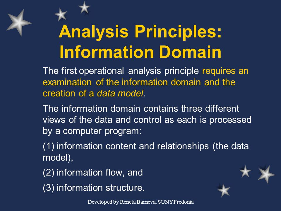 Analysis Principles: Information Domain