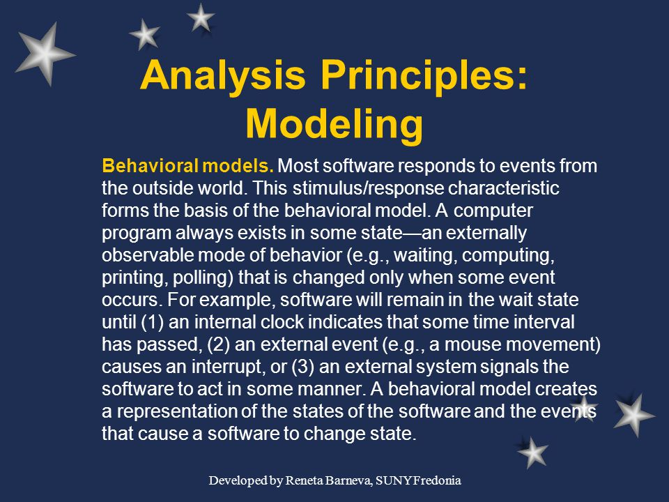 Analysis Principles: Modeling