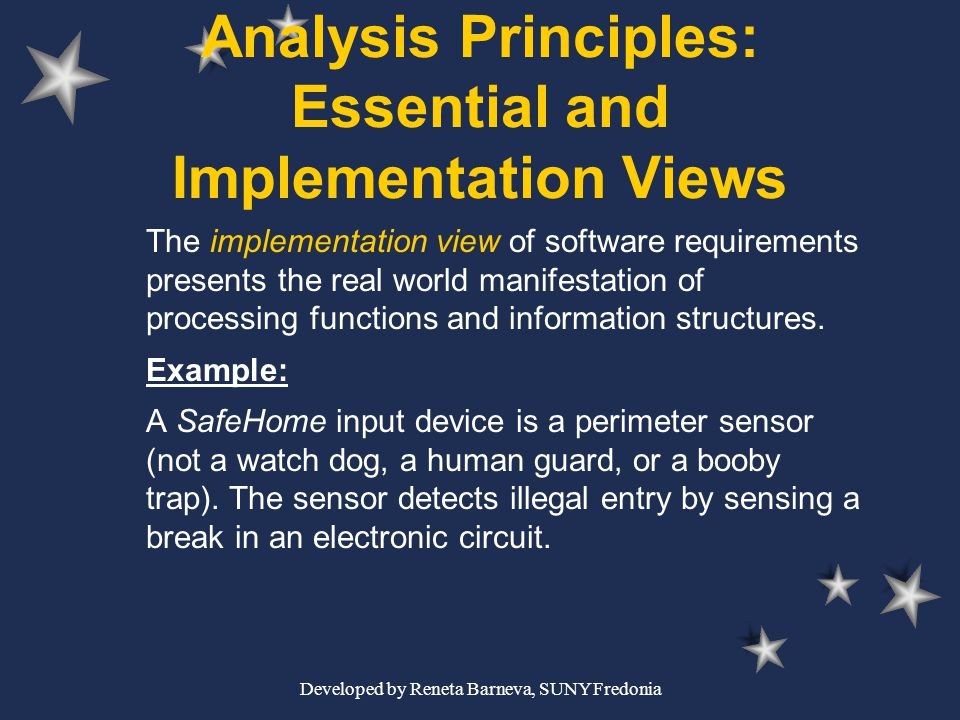 Analysis Principles: Essential and Implementation Views