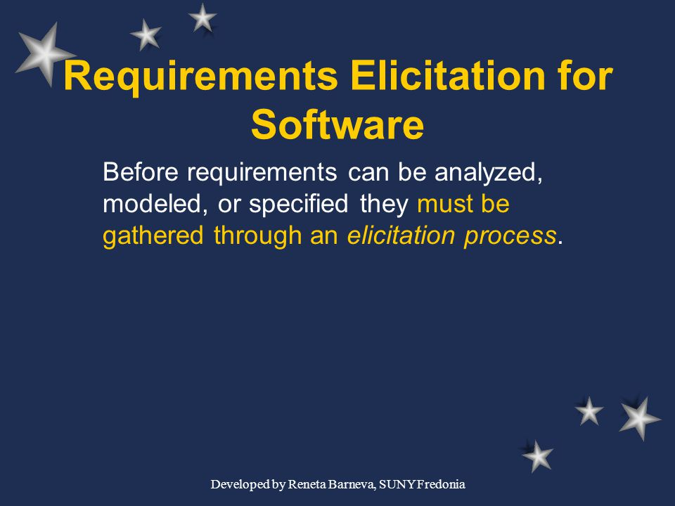 Requirements Elicitation for Software