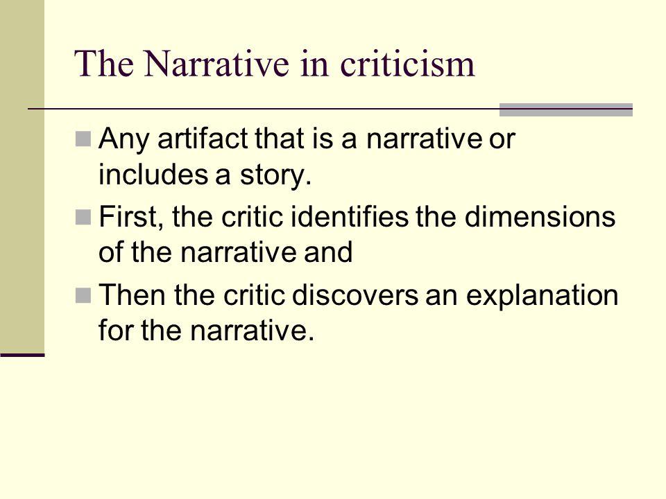 The Narrative in criticism