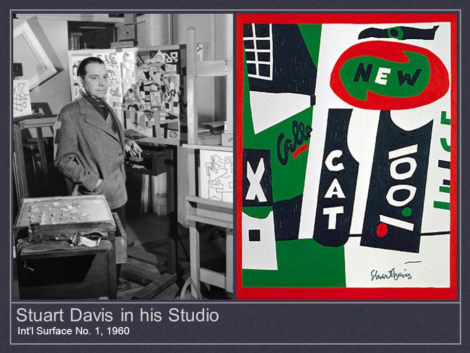 Stuart Davis in his Studio