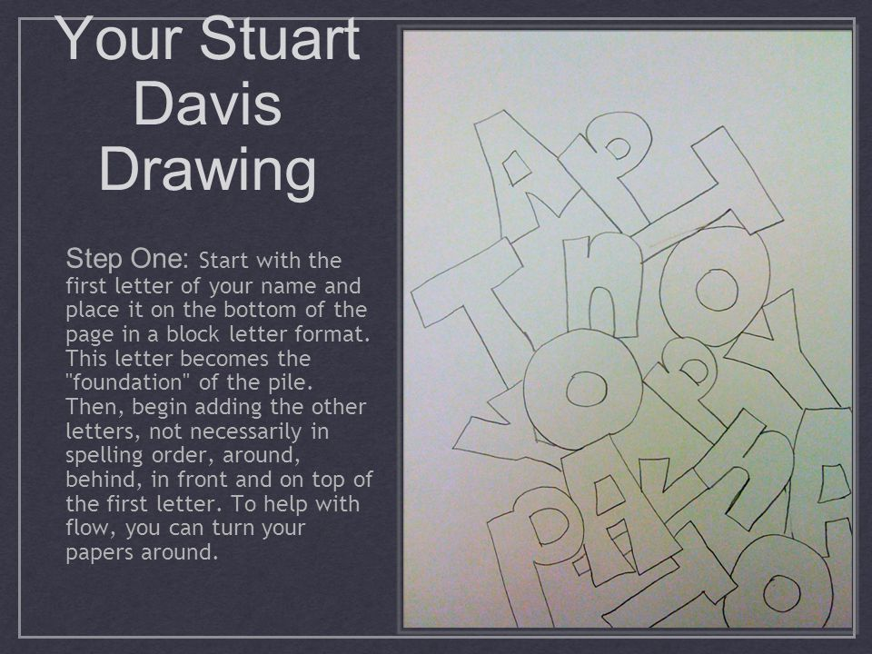 Your Stuart Davis Drawing