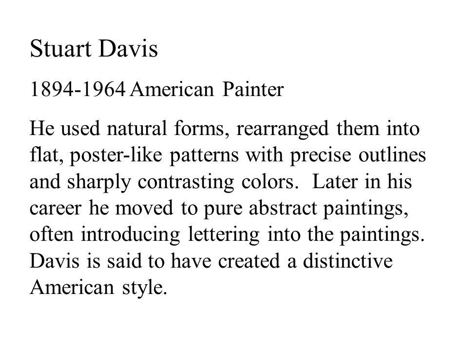 Stuart Davis 1894-1964 American Painter