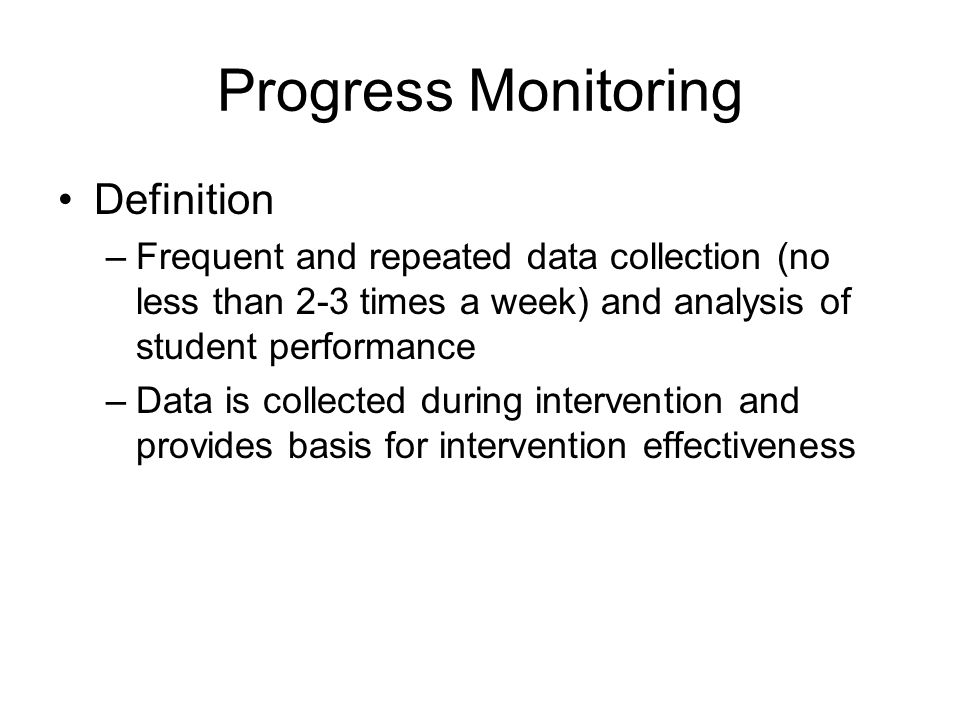 Progress Monitoring Definition