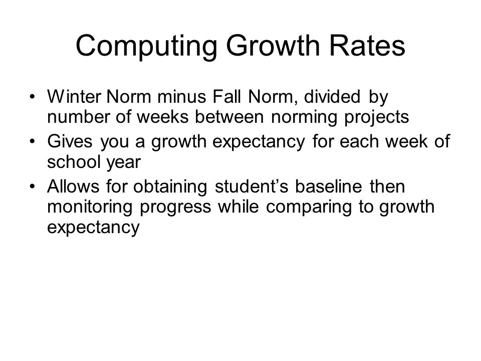 Computing Growth Rates