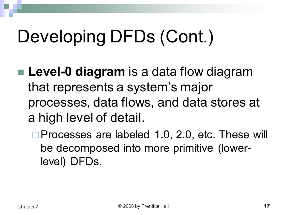 Developing DFDs (Cont.)