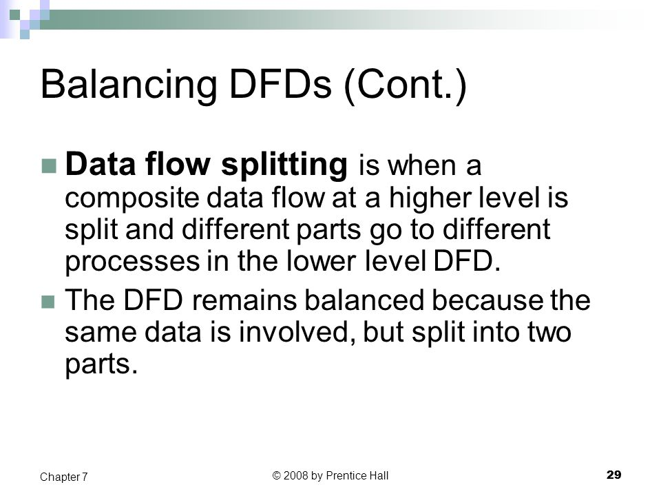 Balancing DFDs (Cont.)
