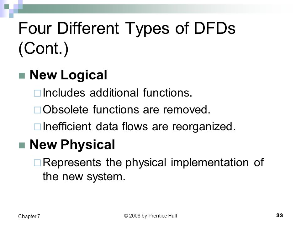 Four Different Types of DFDs (Cont.)
