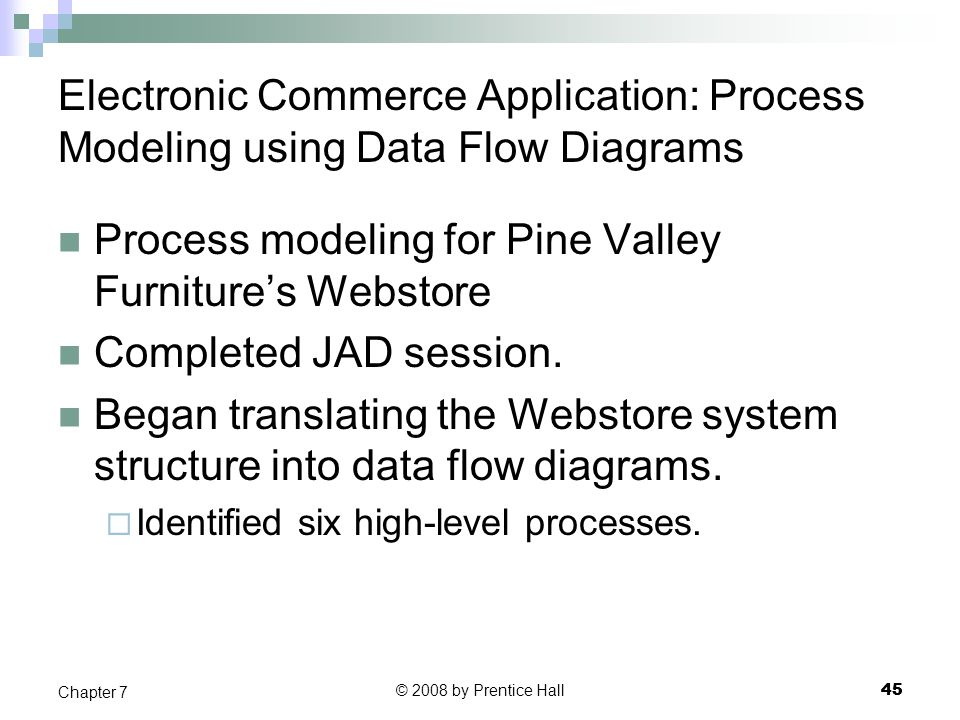 Process modeling for Pine Valley Furniture's Webstore