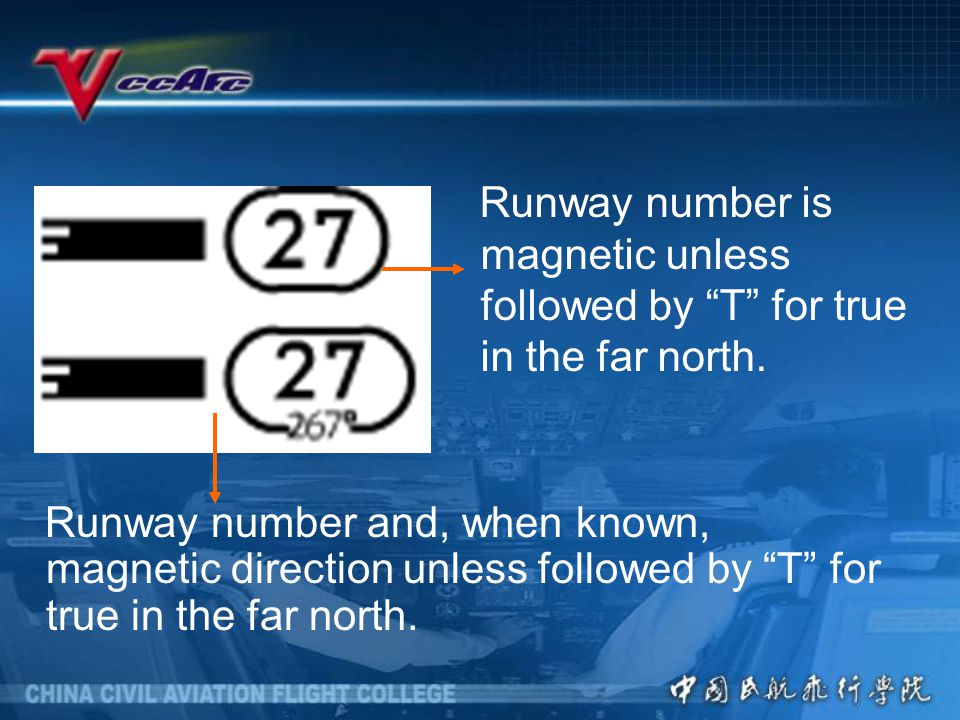 Runway number is magnetic unless followed by T for true in the far north.