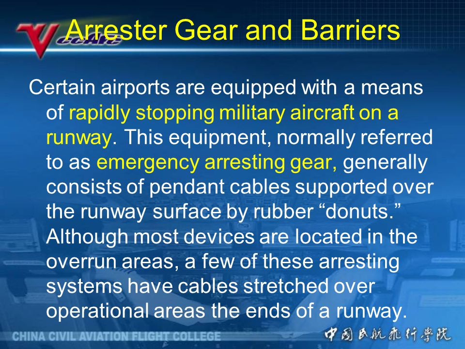 Arrester Gear and Barriers
