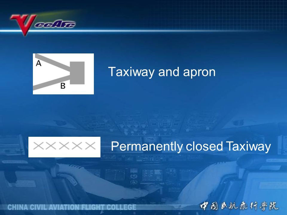 Taxiway and apron Permanently closed Taxiway
