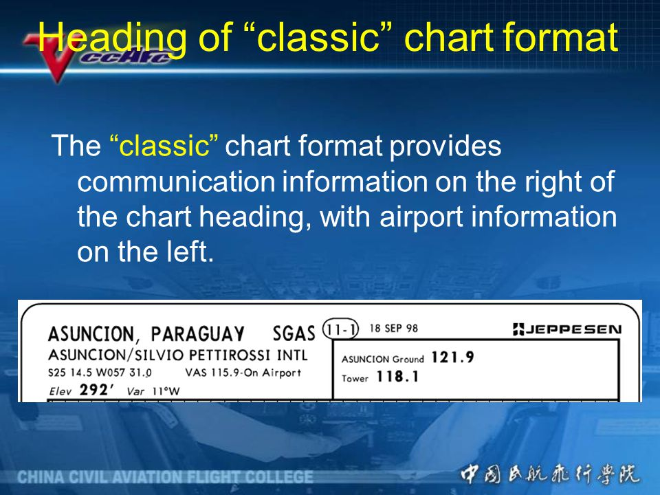 Heading of classic chart format