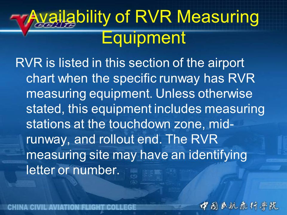 Availability of RVR Measuring Equipment