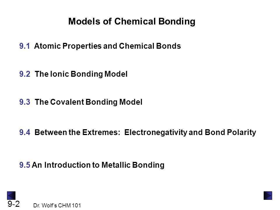 Models of Chemical Bonding