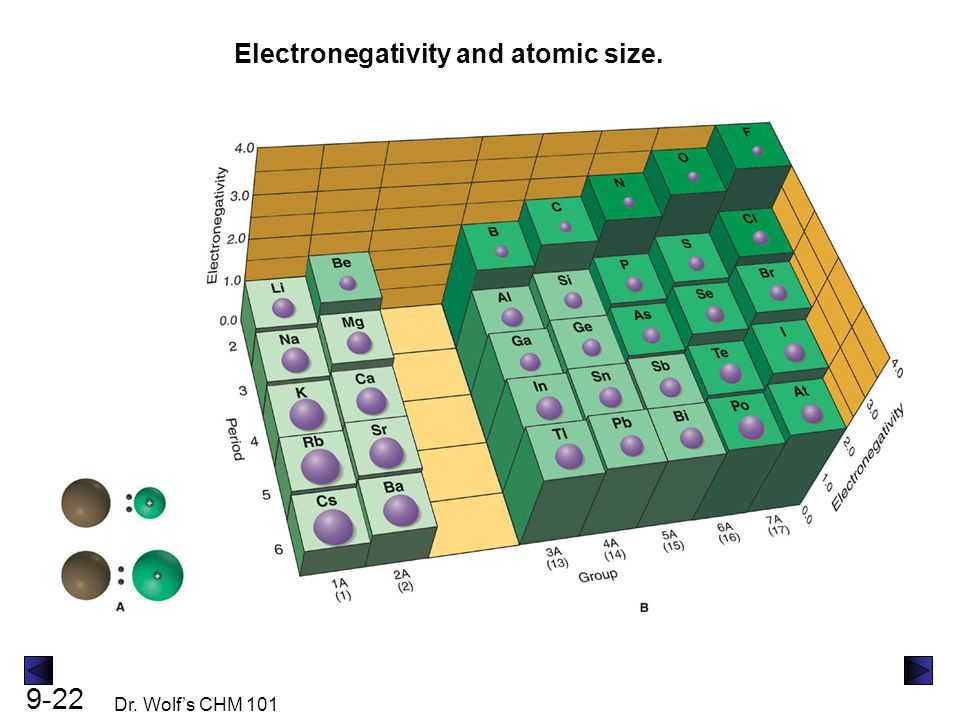 Electronegativity and atomic size.